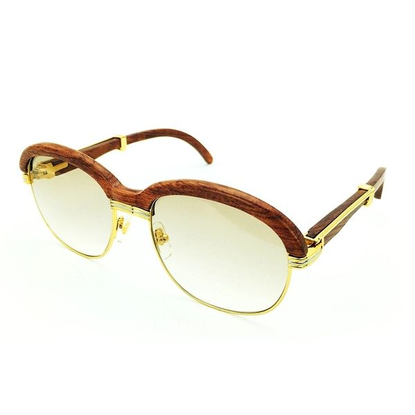 Unisex Gold Brown Cartier Malmaison Palisander Rosewood Glasses (Special Edition) (Free Express Shipping)