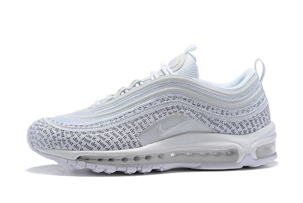 "Nike Air Max 97 ""Just Do It Pack"" White Running Shoe AT8437-100"