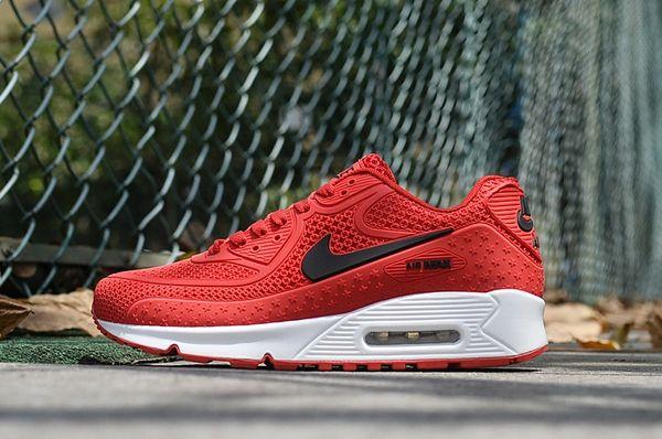 Ladies Retro Nike Air Max 90 Red/Black Sneakers