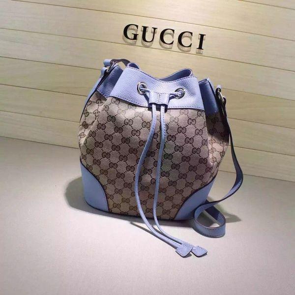 Vintage Gucci GG Canvas Bucket Bag