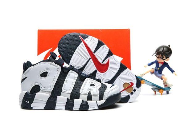 Nike Air More Uptempo Navy/White Little Kids' Shoe