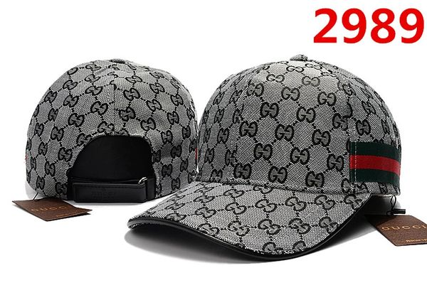 Original Gucci Embossed Embroidered Printed Baseball Cap Catalog 100 (8 Colors Available)
