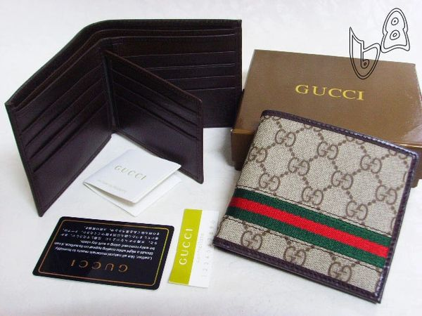 Men's Gucci Custom Web GG Supreme Wallet