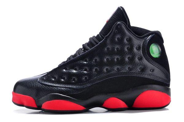 Air Jordan 13 Retro GS 'Dirty Bred' BLACK/GYM RED-BLACK 414574 033