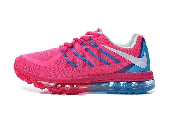 "KIDS Nike Air Max 2015 (GS) Pink/Blue Running Shoe ""Preschool"""