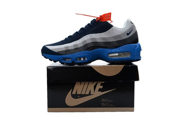 Ladies Nike Air Max 95 iD Grey/Black/Blue Shoes