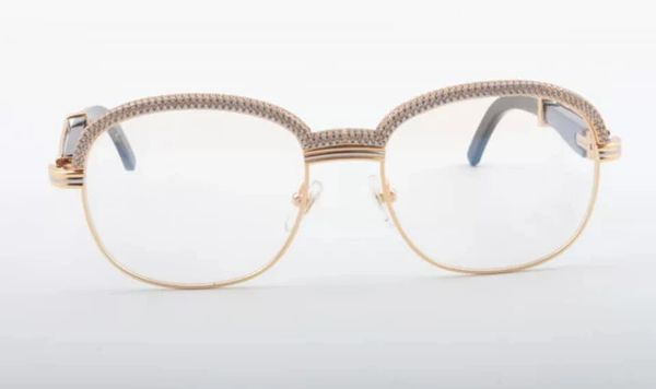 NEW Unisex Gold/Black Diamond Plated Cartier Malmaison Palisander Glasses (Special Edition) (Free Express Shipping)