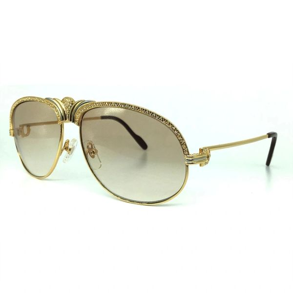 Ladies NEW Cartier Diamond Metal Sunglasses (Special) (Free Express Shipping)
