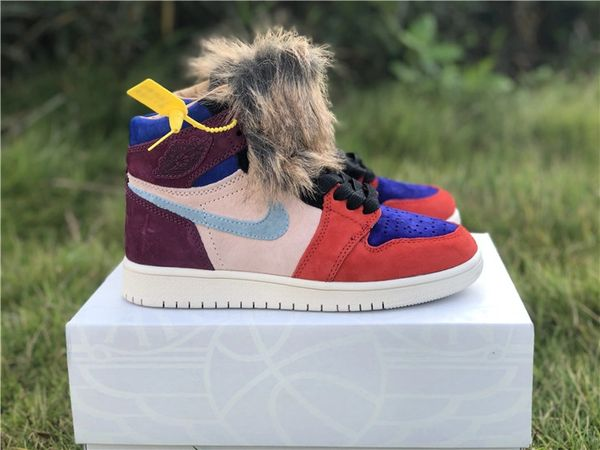 NEW Aleali May x Nike Air Jordan 1 High OG 'Viotech' Sneakers (Special Limited Edition)