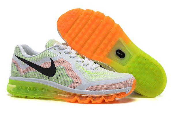 Nike 2014 Retro White Citrus Air Max Running Shoe