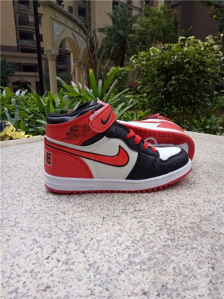 "Air Jordan 1 Retro High Og Bg (Gs) White/Black/Varsity Red Little Kids' Shoe ""Black Toe 2016 Release"""