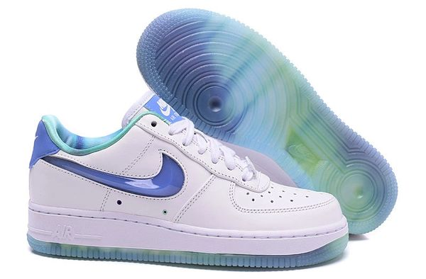 Ladies Nike Air Force 1 07 LV8 All Star QS White & Bluecap Sneakers