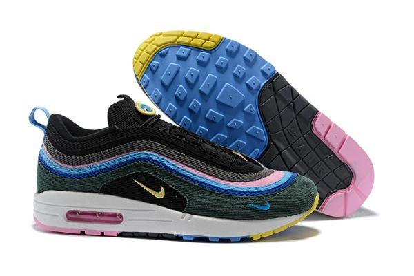 NEW Black Blue Pink Nike Air Max 1/97 VF SW Sean Wotherspoon Running Shoe (Special Limited Edition)