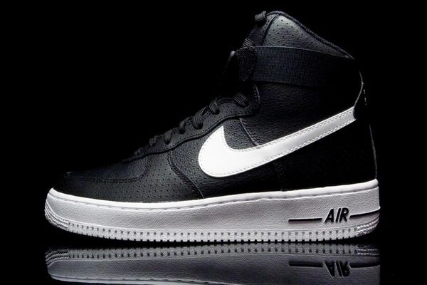Men's Nike Air Force 1 High 07 Black & White Sneakers