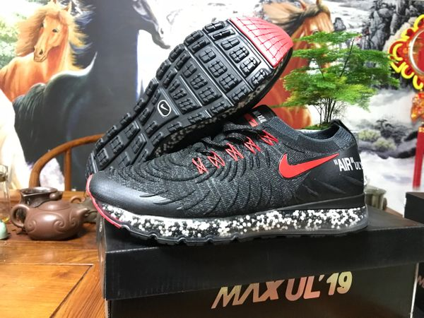 NEW 2019 Black Red Nike Air MAX UL' 19 Running Shoe