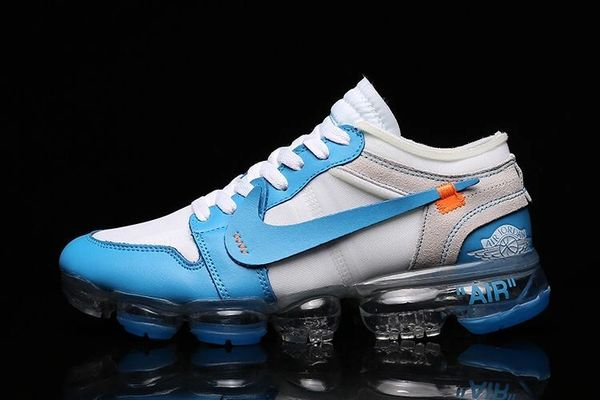 NEW UNC Blue Nike Off White x Air Jordan 1 x Air VaporMax Sneakers (Special Limited Edition)