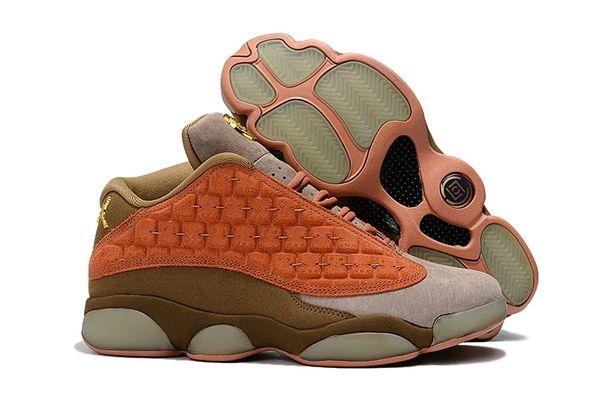 "NEW Nike CLOT x Air Jordan 13 Low ""Terracotta Warrior"" Sneakers"
