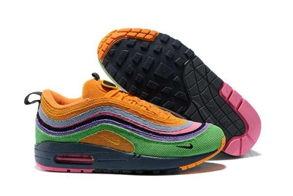 NEW Green Purple Orange Nike Air Max 1/97 VF SW Sean Wotherspoon Running Shoe (Special Limited Edition)