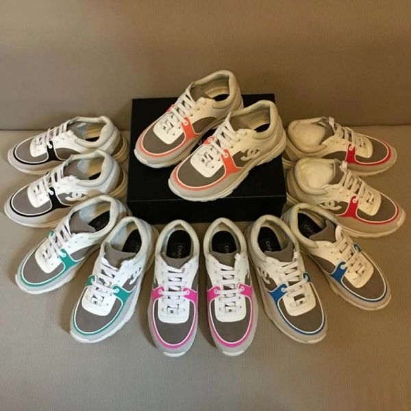 New Ladies Original Chanel Low Canvas Sneakers Catalog 4 (6 Colors Available)