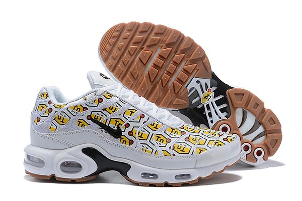 "NEW White Nike Air Max Plus ""All Over Print"" Running Shoe (Special Edition)"