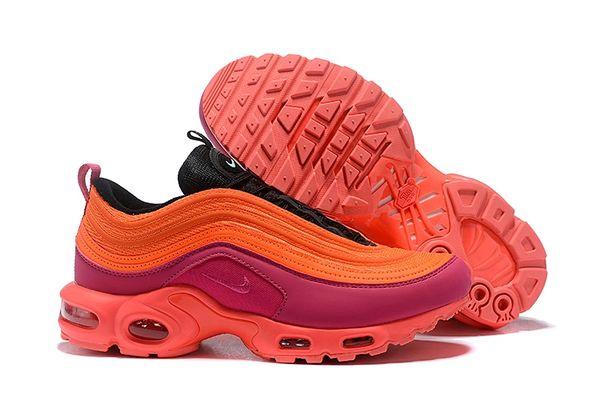 NEW Orange Pink Nike Air Max 97 Plus Running Shoe