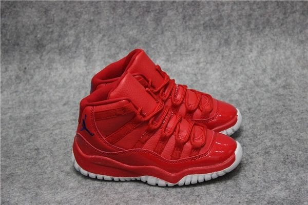 Air Jordan 11 Retro Bg (Gs) Red/White Little Kids' Shoe