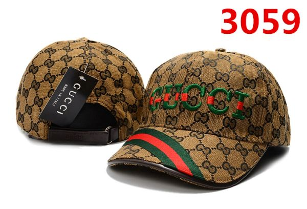Original Gucci Embossed Embroidered Printed Baseball Cap Catalog 105 (8 Colors Available)