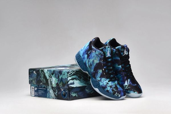 Air Jordan XX9 (29) 'Year of The Goat' Blue Force /Black-Light Blue Lacquer-White Sneaker