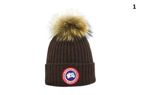 NEW Winter Original Canada Goose Knit Wool Hat Catalog 1 (With Pom)