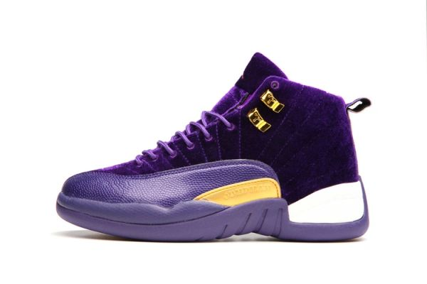 "Air Jordan 12 Retro ""Purple Leather Suede"" Sneaker (Special Limited Edition)"