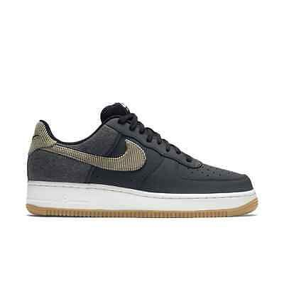 Men's Nike Air Force 1 Low Custom iD Pigeon Anthracite Bamboo Black Sneakers