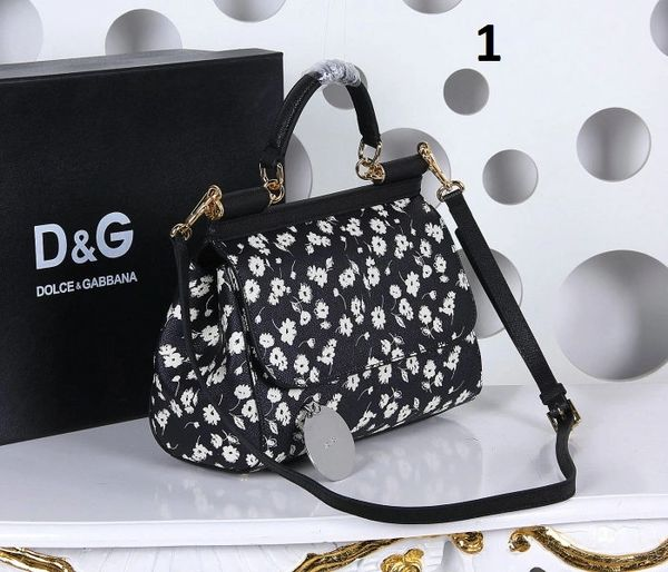 Vintage Dolce & Gabbana Sicily Handbag In Printed Dauphine Leather (1-4)