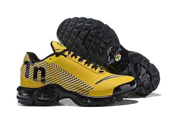 NEW Nike Black Yellow Tuned 1 Mercurial Running Shoe