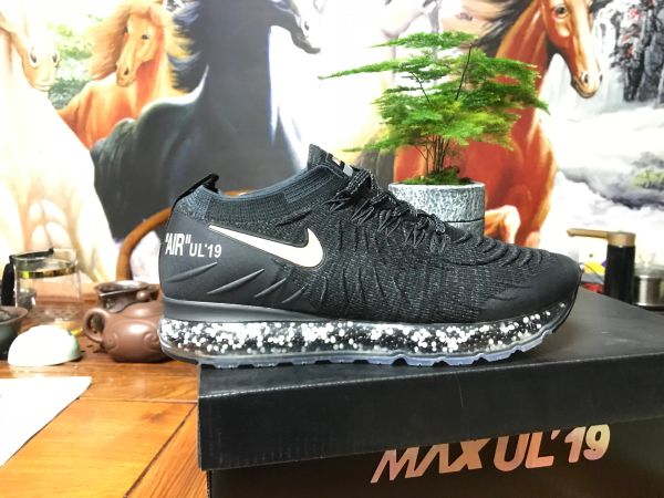 NEW 2019 Black Gold Nike Air MAX UL' 19 Running Shoe