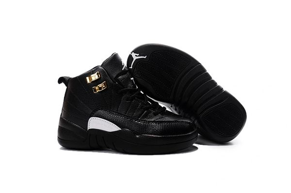"Air Jordan 12 Retro Bg (Gs) Black/Rattan-White-Metallic Gold Little Kids' Shoe ""The Master"""
