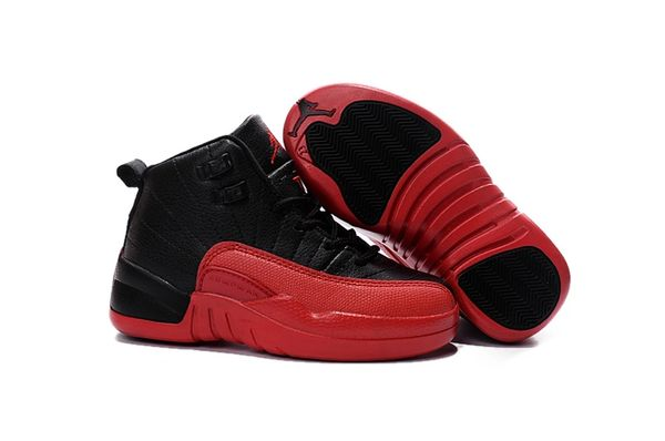 "Air Jordan 12 Black/Varsity Red Little Kids' Shoe ""Flu Game"""