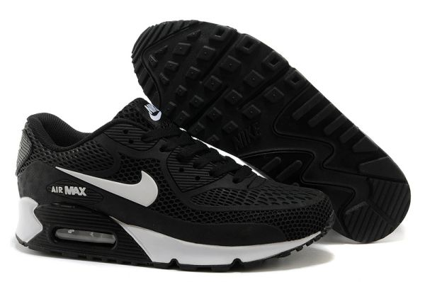 Men's Retro Nike Air Max 90 Black/White Sneakers