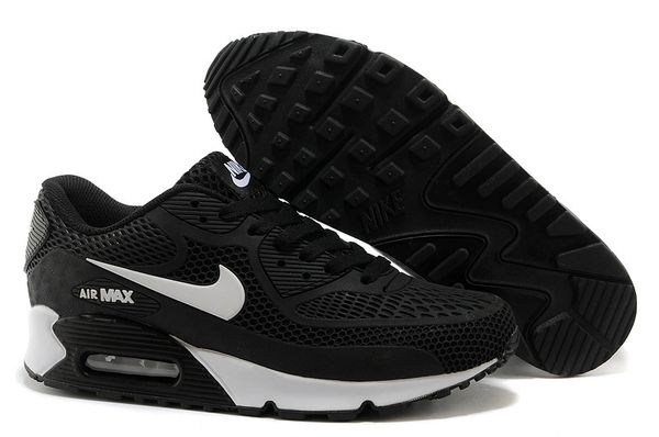 Ladies Retro Nike Air Max 90 Black/White Sneakers