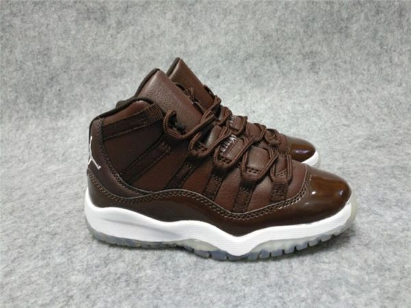 Air Jordan 11 Retro Bg (Gs) Brown/White Little Kids' Shoe
