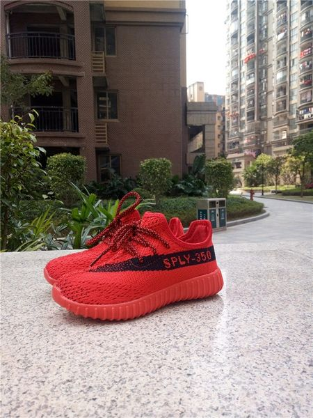 Adidas Yeezy Boost 350 V2 Red/Black Little Kids' Shoes