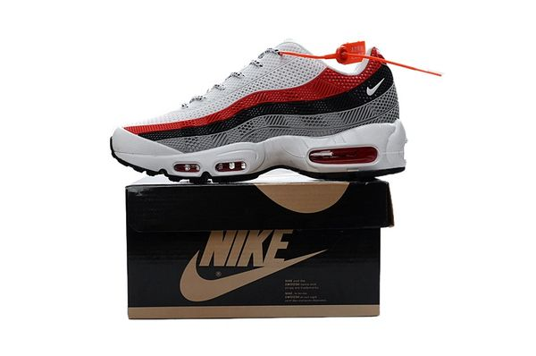 Ladies Nike Air Max 95 iD White/Red/Grey Shoes