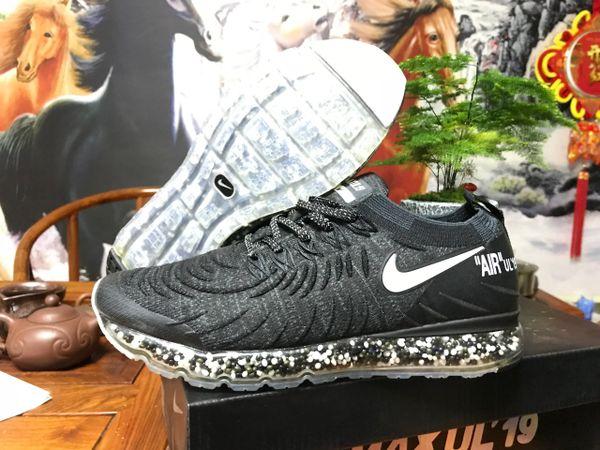 NEW 2019 Black & White Nike Air MAX UL' 19 Running Shoe