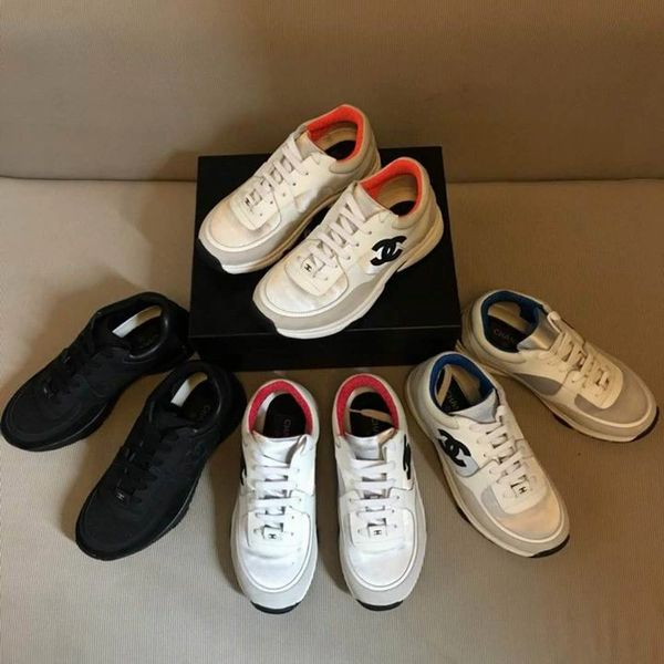 New Ladies Original Chanel Low Canvas Sneakers Catalog 2 (4 Colors Available)