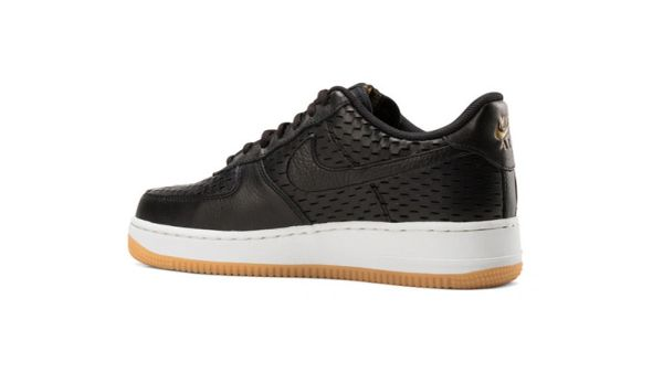 Men's Nike Air Force 1 07 Premium Summit Black & Metallic Gold Sneakers