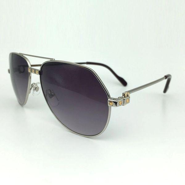 Unisex Gold Grey Cartier Metal Aviator Sunglasses Catalog 20E (Free Express Shipping)
