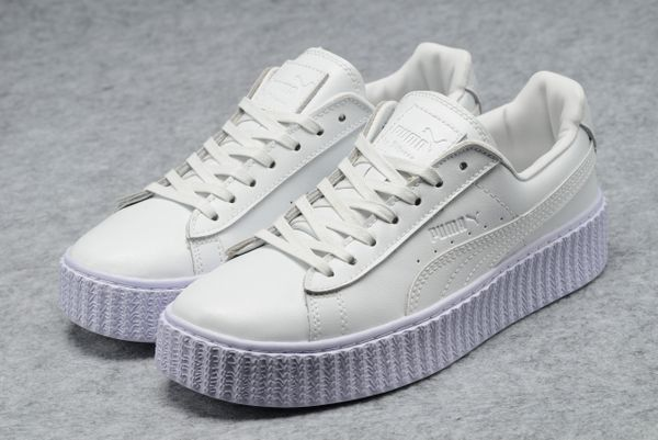 size 40 0c2ce 8eac7 PUMA by Rihanna Off White Leather Creeper Sneakers
