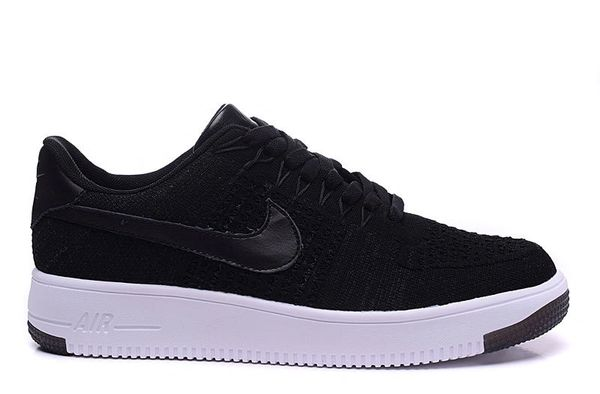 Men's Nike Air Force 1 Ultra Flyknit Low Black White Sneakers