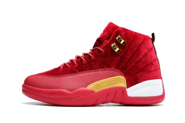 "Air Jordan 12 Retro ""Red Leather Suede"" Sneaker (Special Limited Edition)"