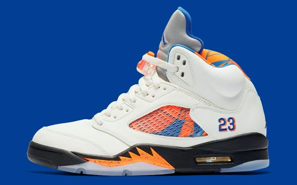"NEW Men's Nike Air Jordan 5 Retro ""International Flight/Orange Peel"" Sneakers (2018 Release)"