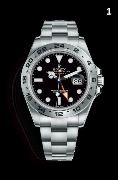 NEW Rolex Oyster Perpetual Explorer 2 Luxury Timepiece Catalog (90% Off Retail Price)